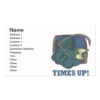Times Up Business Card Template