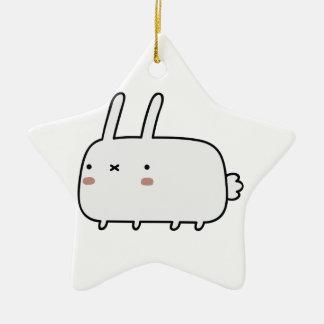 Timid Rabbit Ceramic Star Decoration