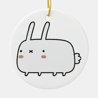 Timid Rabbit Christmas Tree Ornament