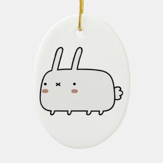 Timid Rabbit Christmas Ornament
