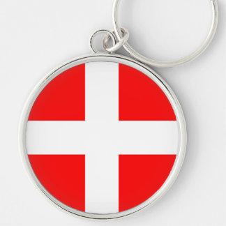 timisoara city romania flag symbol Silver-Colored round key ring