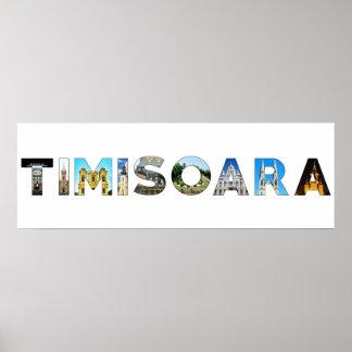 timisoara city romania landmark inside text symbol poster