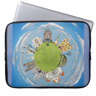 timisoara city romania tiny little planet landmark laptop sleeve