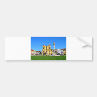 timisoara romania church dome landmark unirii squa bumper sticker