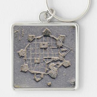 Timisoara Romania citadel map paving stone ancient Key Ring