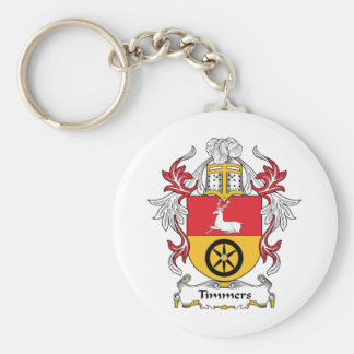 Timmers Family Crest Basic Round Button Key Ring