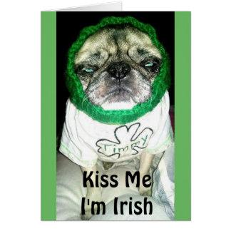 """Timmy """"Kiss Me I'm Irish"""" Greeting Card"""