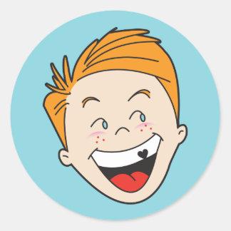 Timmy Retro 50s Kid Stickers — Round