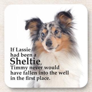 Timmy's Blue Merle Sheltie Coaster Set