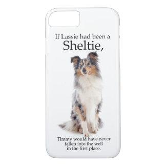 Timmy's Blue Merle Sheltie iPhone case