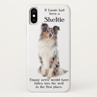 Timmy's Blue Merle Sheltie iPhone X Case