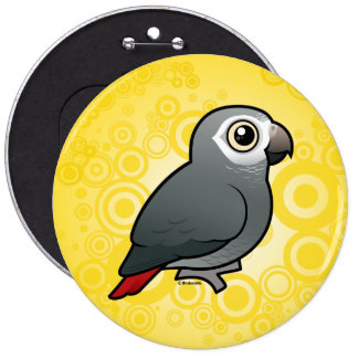 Timneh African Grey Parrot Buttons