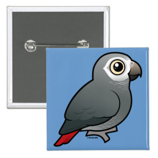 Timneh African Grey Parrot Pinback Button