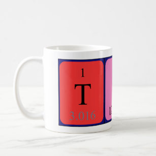Periodic table coffee travel mugs zazzle au timo periodic table name mug urtaz Image collections