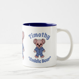 Timothy Cuddle Bear Custom Children's Book Two-Tone Coffee Mug