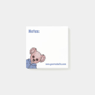 Timothy Cuddle Bear Personalised Children's Book Post-it Notes