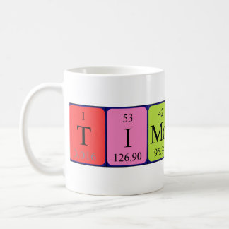 Timothy periodic table name mug
