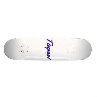 timpani text blk outline blue png skate decks