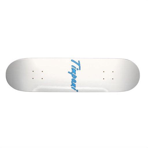 timpani text blk outline cornflower.png skate board deck