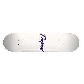 timpani text blk outline drk blue png skateboard deck