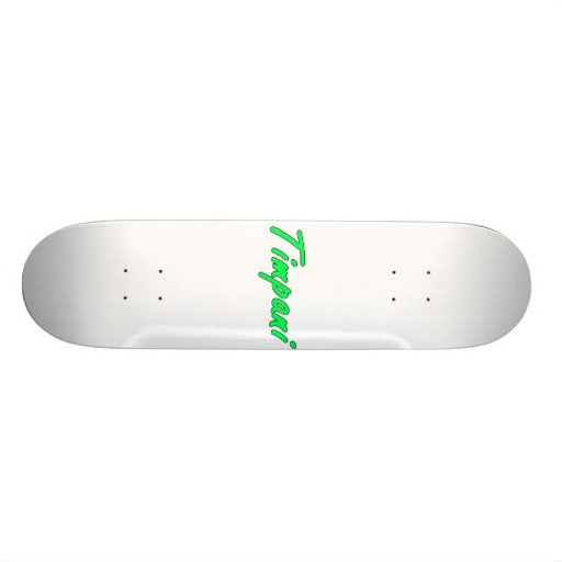 timpani text blk outline mint.png custom skateboard