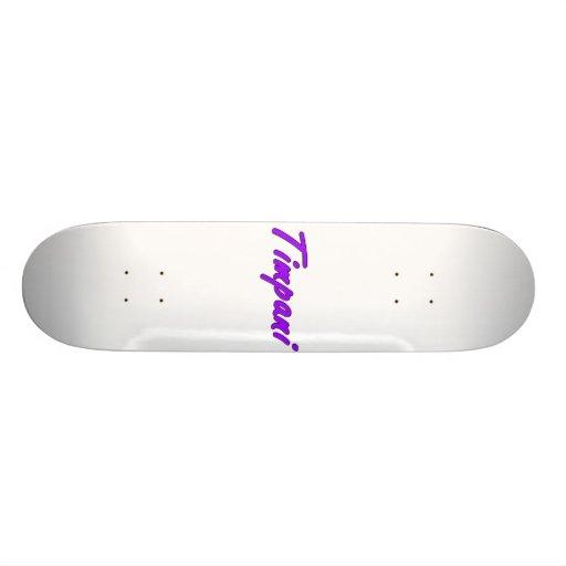 timpani text blk outline purple.png skateboard deck