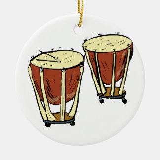 Timpani Two With Mallets Graphic Image Ceramic Ornament