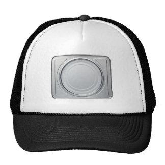 Tin box with round lid trucker hat