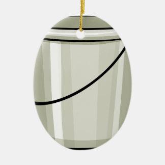 Tin bucket ceramic oval decoration