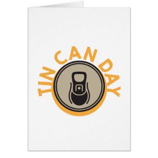 Tin Can Day - Appreciation Day Card
