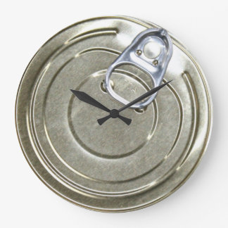 Tin Can Lid Novelty Large Clock