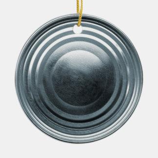 Tin Can Lid Round Ceramic Decoration