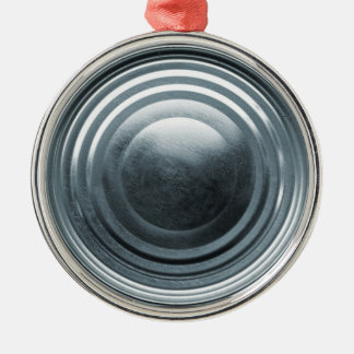 Tin Can Lid Silver-Colored Round Decoration