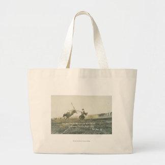 Tin Horn Hank Keenan and his chariot. Large Tote Bag