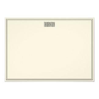 Tin Leaf Thank-You Notes 13 Cm X 18 Cm Invitation Card
