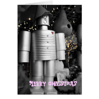Tin Man at Christmas Greeting Card