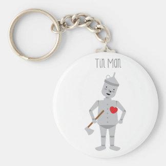 Tin Man Basic Round Button Key Ring