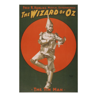 Tin Man Wizard of OZ Musical VAUDEVILLE Poster