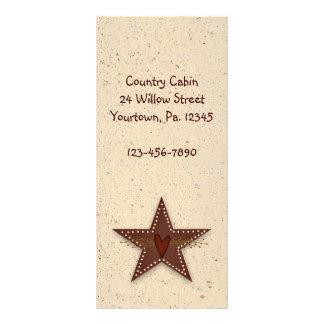 Tin Star Rack Card Book Mark
