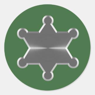 Tin Star Sheriff Classic Round Sticker