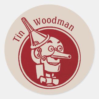 Tin Woodman (Tin Man) Face CC0897 Wonderful Wizard Classic Round Sticker