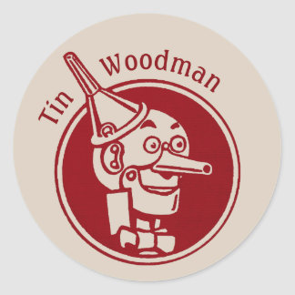 Tin Woodman (Tin Man) Face CC0897 Wonderful Wizard Round Sticker