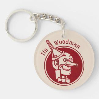 Tin Woodman (Tin Man) Face CC0900 Wonderful Wizard Single-Sided Round Acrylic Key Ring