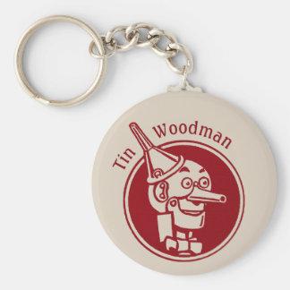 Tin Woodman (Tin Man) Face CC0901 Wonderful Wizard Basic Round Button Key Ring