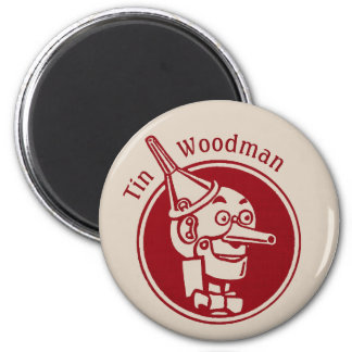 Tin Woodman (Tin Man) Face CC0902 Wonderful Wizard 6 Cm Round Magnet