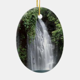 Tinago Falls, Mindanao, Philippines Ceramic Oval Decoration