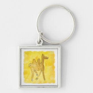 Tinca's Drawings. Childish Watercolor with Camel Key Ring