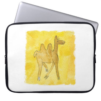 Tinca's Drawings. Childish Watercolor with Camel Laptop Sleeve