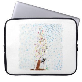 Tinca's Drawings. Christmas Tree Laptop Sleeve