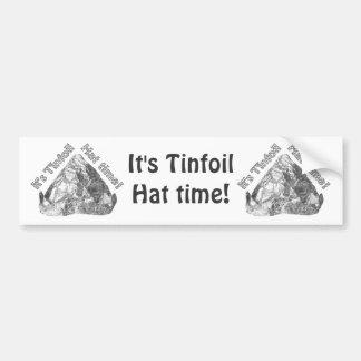 Tinfoil Hat Time Car Bumper Sticker
